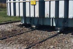 Skażenie powierzchni terenu olejem transformatorowym