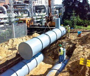 Montaż wydzielonych zbiorników na olej transformatorowy