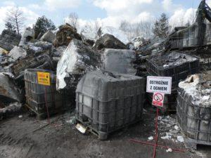 Ułożenie faszyny na skarpach składowiska